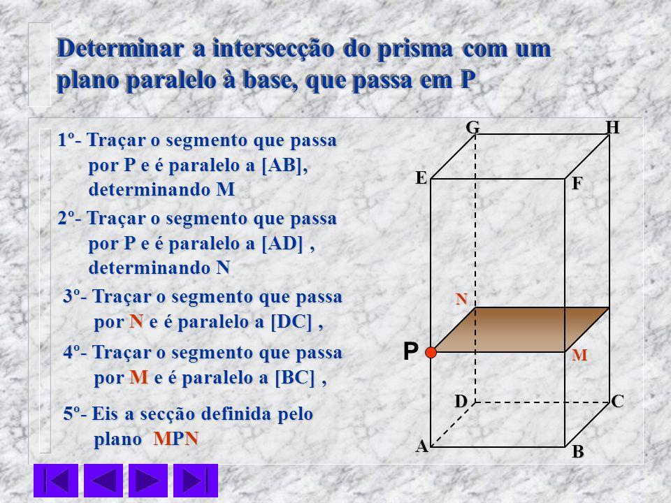 Determinar a intersecção do prisma com um