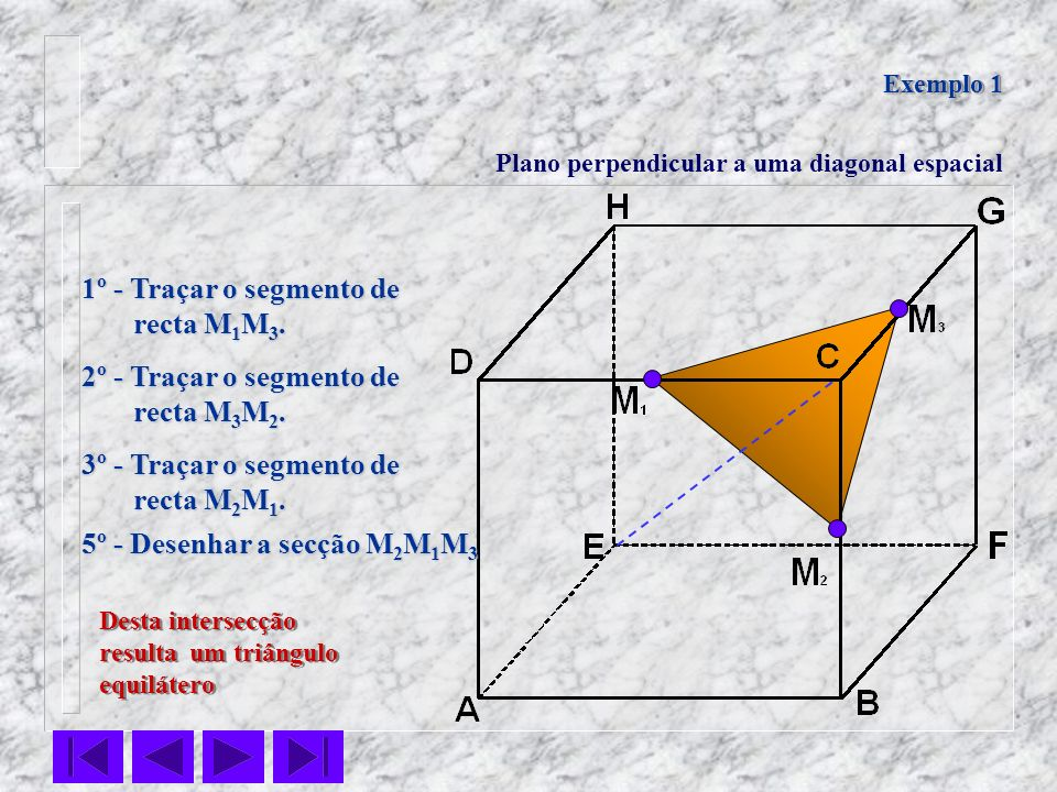 5º - Desenhar a secção M2M1M3