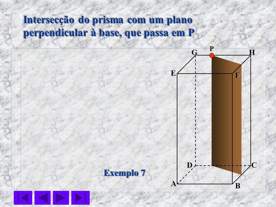 Intersecção do prisma com um plano