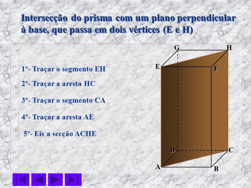 Intersecção do prisma com um plano perpendicular