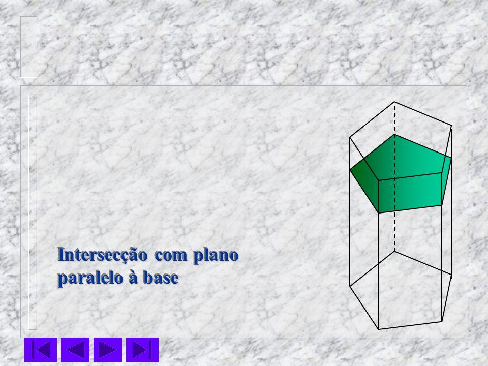 Intersecção com plano paralelo à base