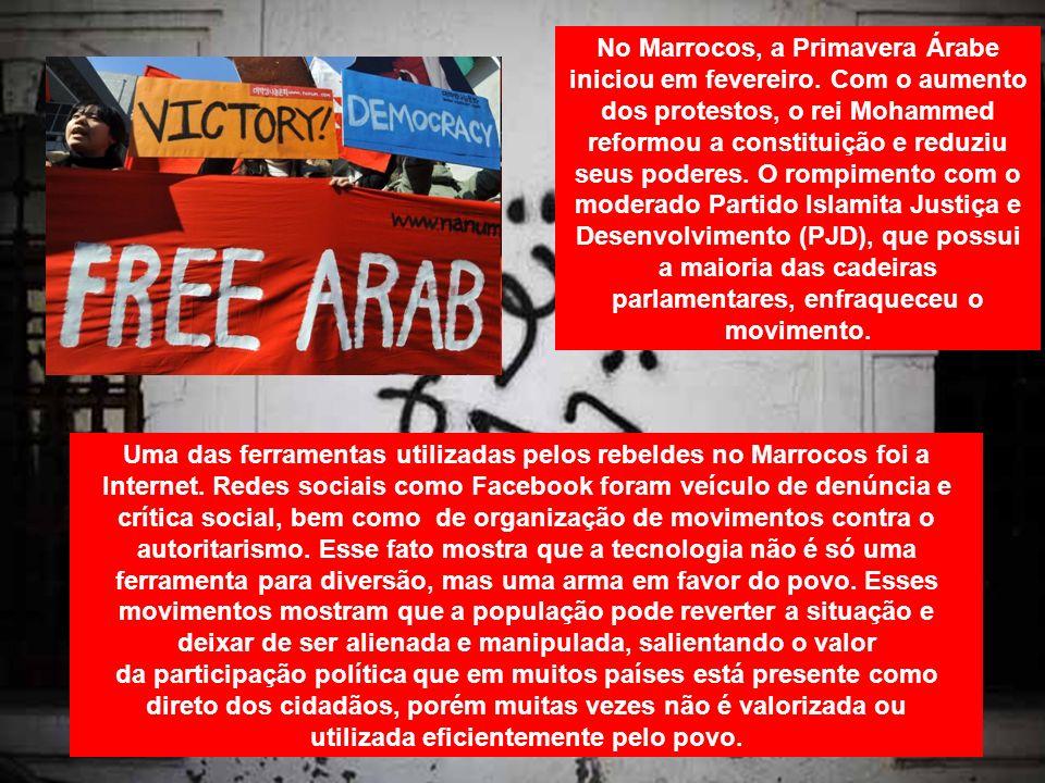 No Marrocos, a Primavera Árabe iniciou em fevereiro