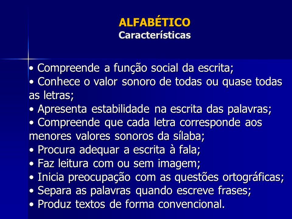 ALFABÉTICO Características
