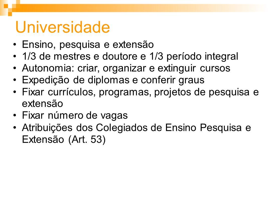 Universidade Ensino, pesquisa e extensão