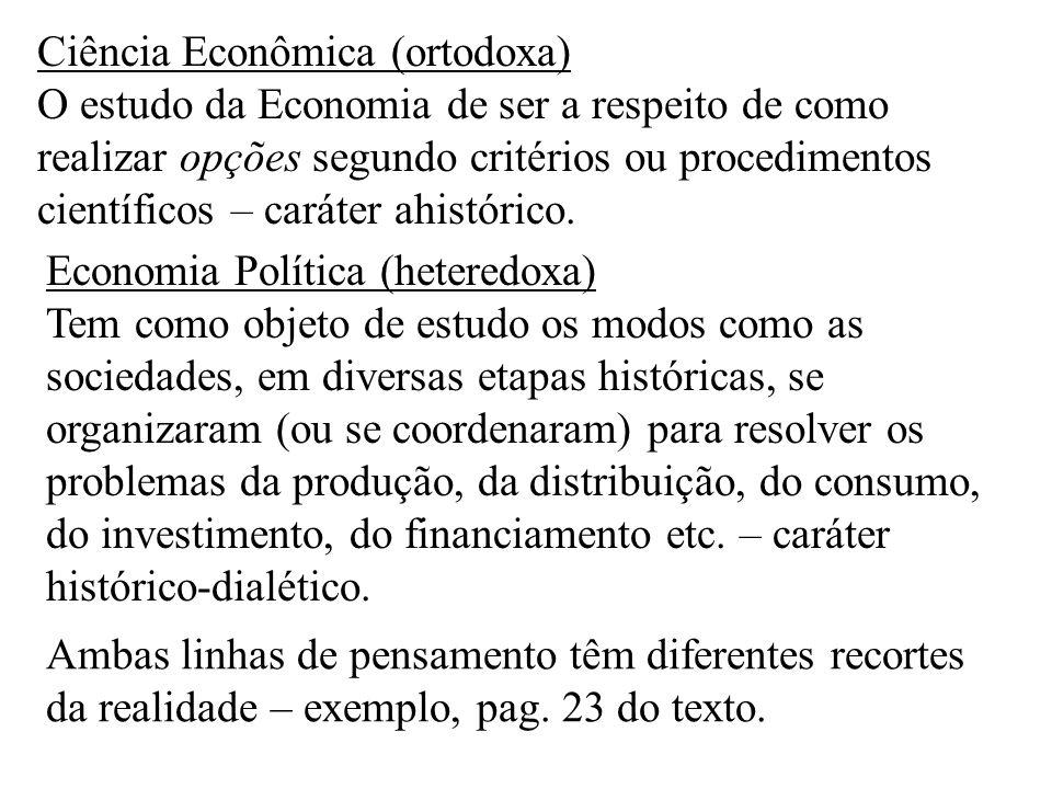 Ciência Econômica (ortodoxa)
