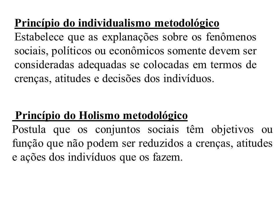 Princípio do individualismo metodológico