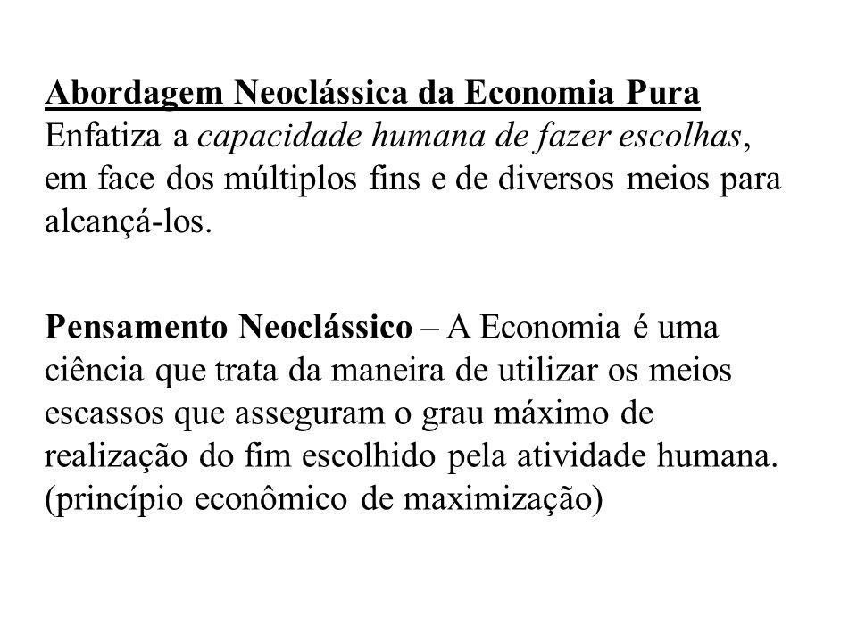 Abordagem Neoclássica da Economia Pura