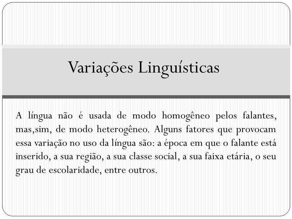 Variações Linguísticas