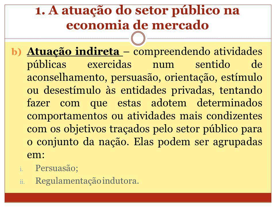 1. A atuação do setor público na economia de mercado