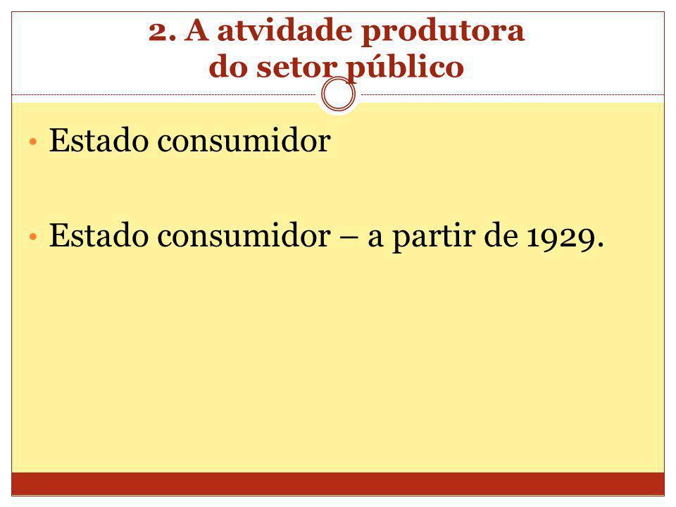2. A atvidade produtora do setor público
