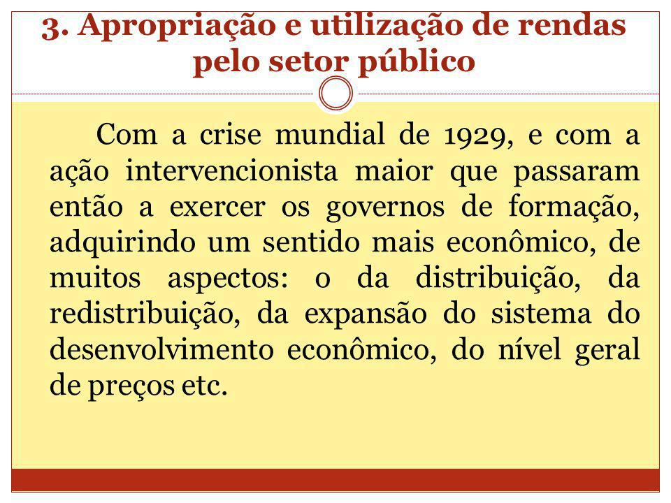 3. Apropriação e utilização de rendas pelo setor público