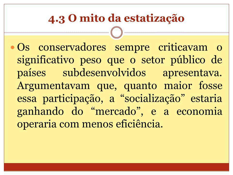 4.3 O mito da estatização