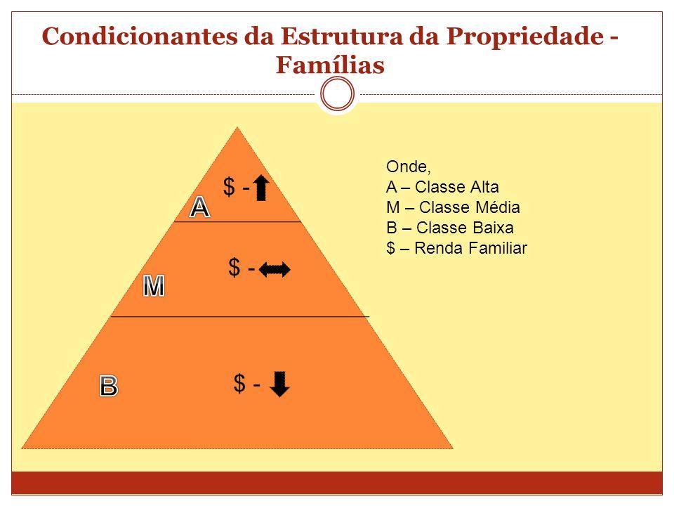 Condicionantes da Estrutura da Propriedade - Famílias