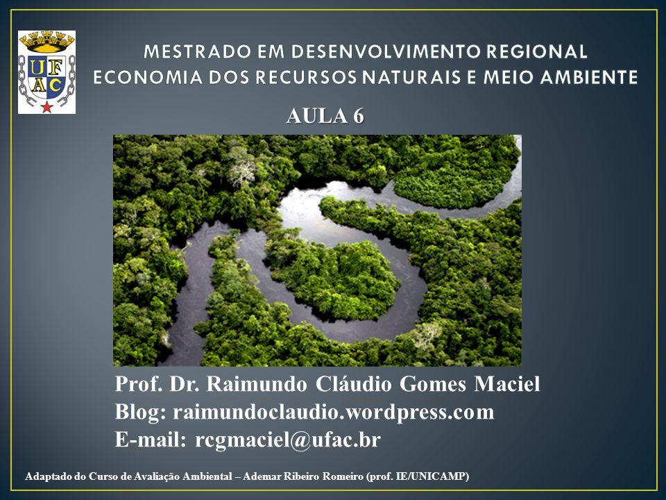 Prof. Dr. Raimundo Cláudio Gomes Maciel