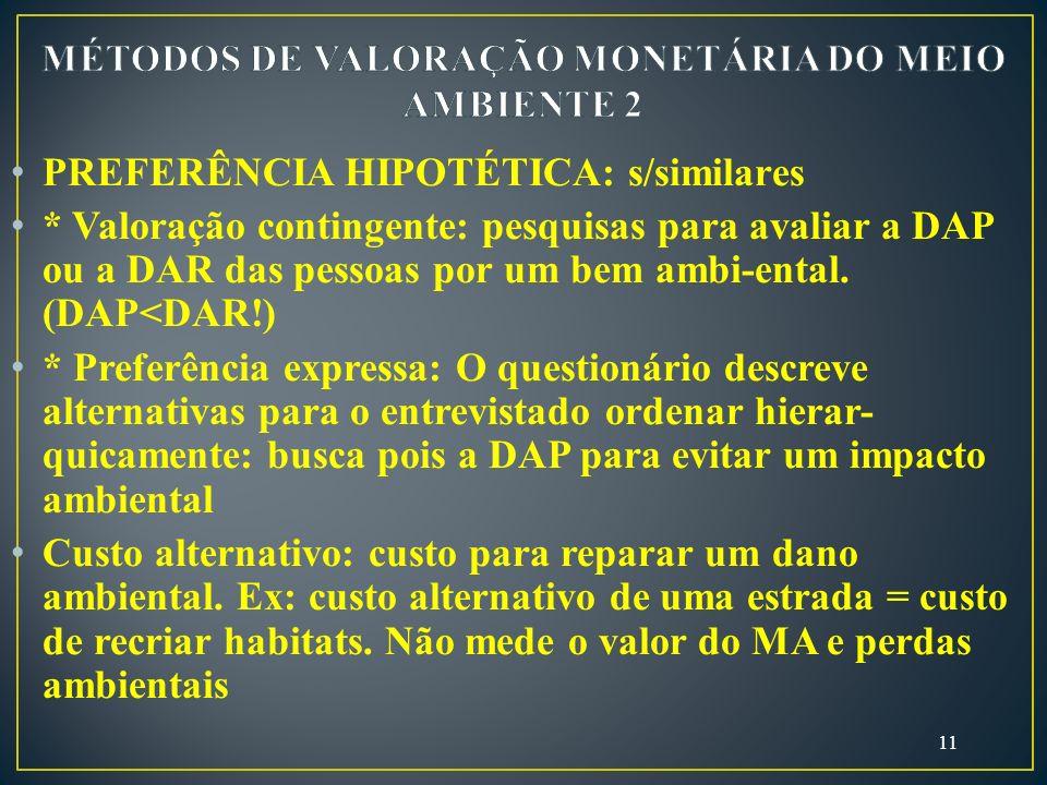 MÉTODOS DE VALORAÇÃO MONETÁRIA DO MEIO AMBIENTE 2