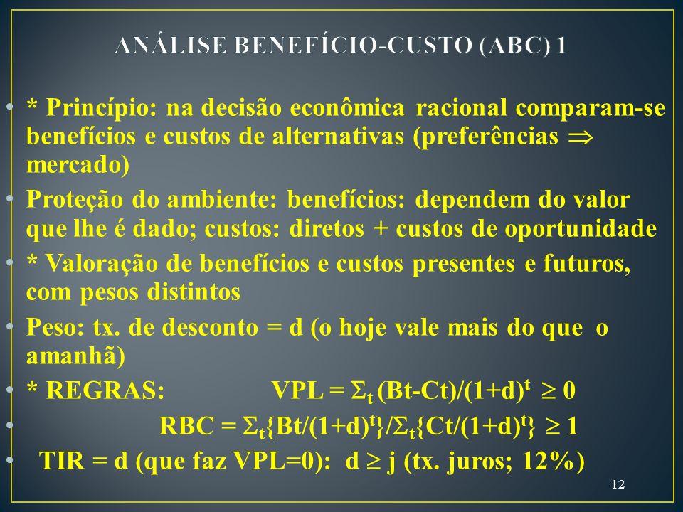 ANÁLISE BENEFÍCIO-CUSTO (ABC) 1
