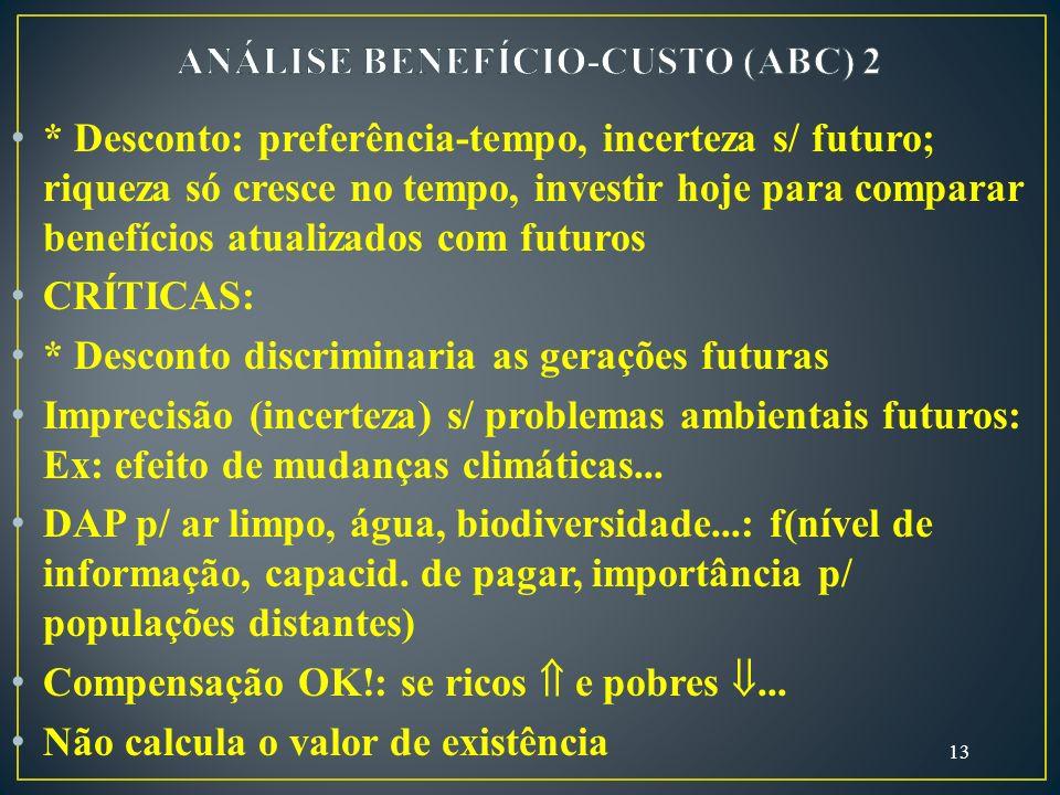 ANÁLISE BENEFÍCIO-CUSTO (ABC) 2