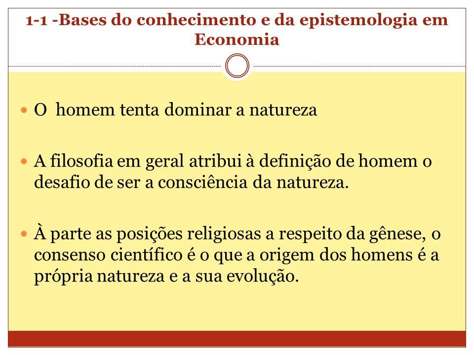 1-1 -Bases do conhecimento e da epistemologia em Economia