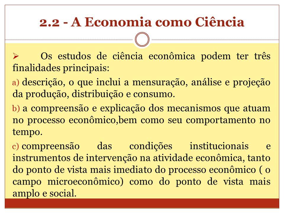 2.2 - A Economia como Ciência