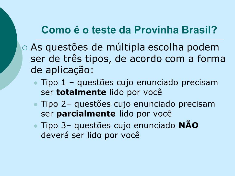 Como é o teste da Provinha Brasil