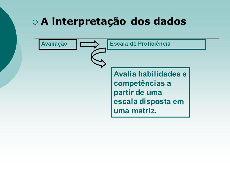 A interpretação dos dados