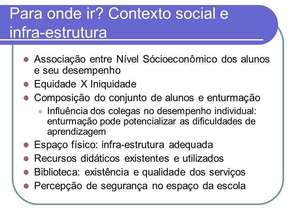 Para onde ir Contexto social e infra-estrutura