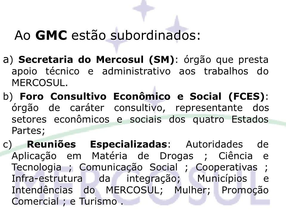 Ao GMC estão subordinados: