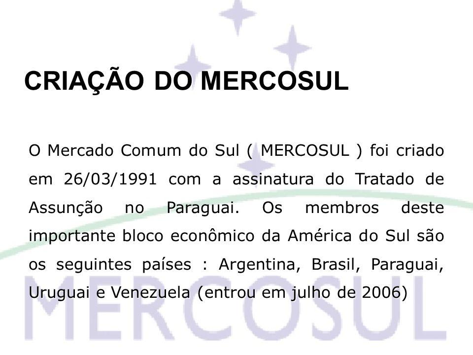 CRIAÇÃO DO MERCOSUL
