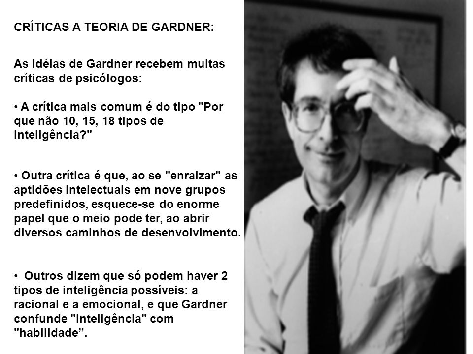 CRÍTICAS A TEORIA DE GARDNER: