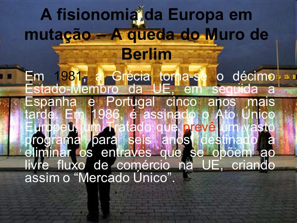 A fisionomia da Europa em mutação – A queda do Muro de Berlim