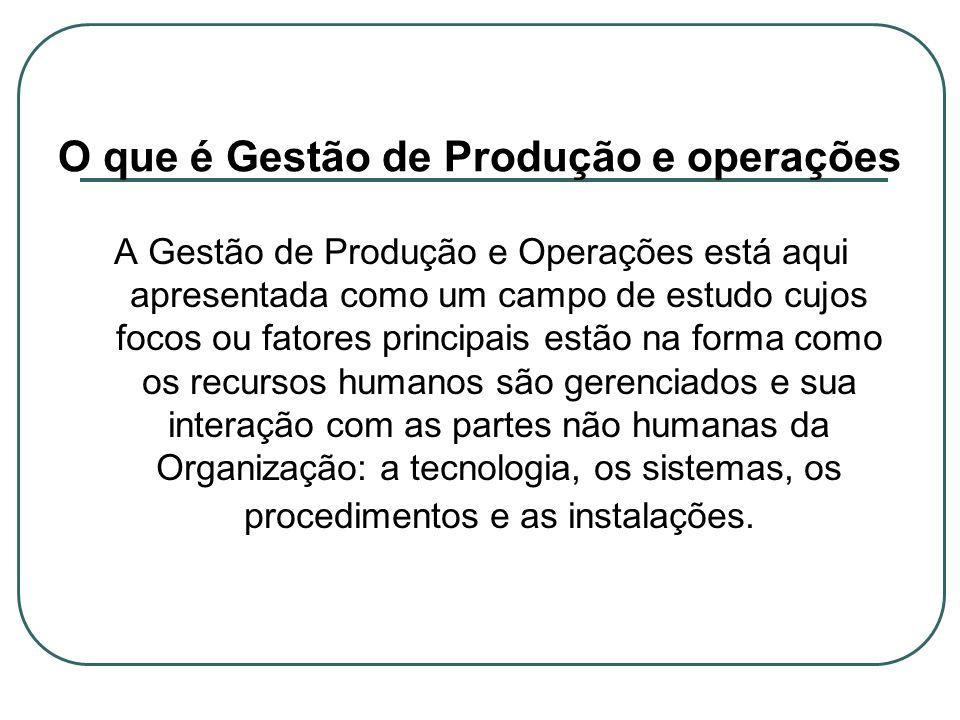 O que é Gestão de Produção e operações