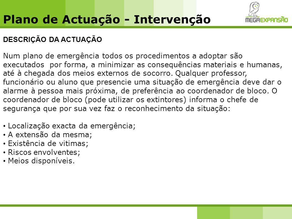 Plano de Actuação - Intervenção