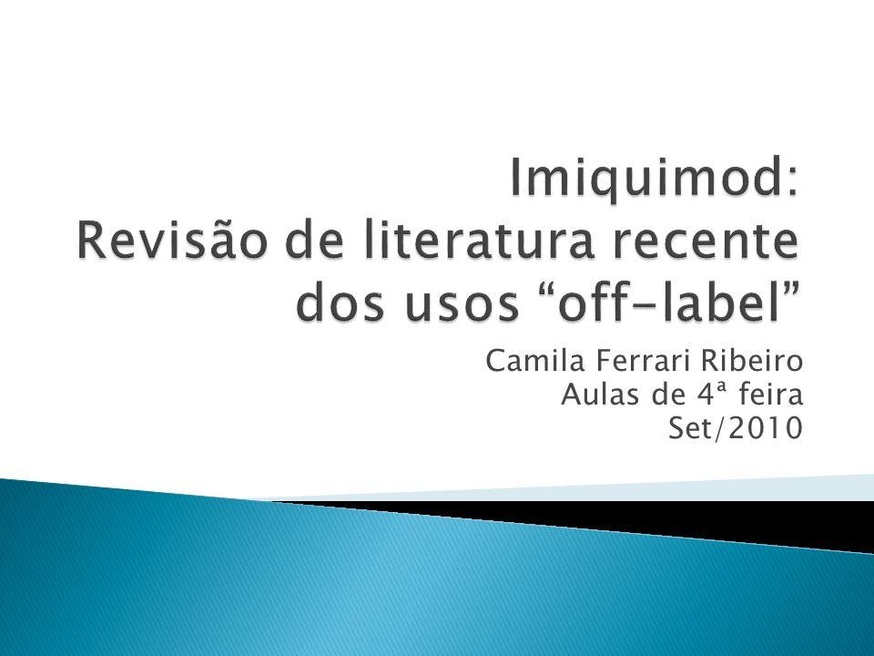 Imiquimod: Revisão de literatura recente dos usos off-label