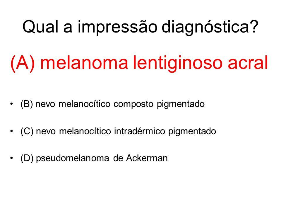Qual a impressão diagnóstica