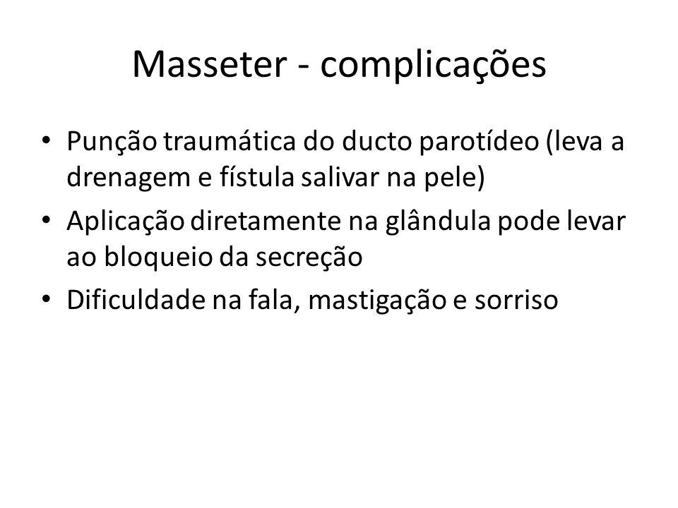 Masseter - complicações