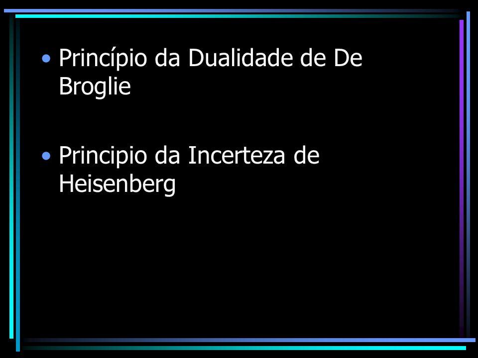 Princípio da Dualidade de De Broglie