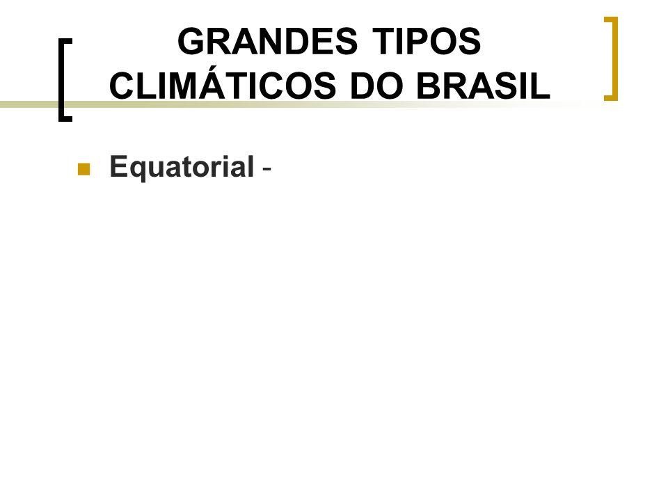 GRANDES TIPOS CLIMÁTICOS DO BRASIL