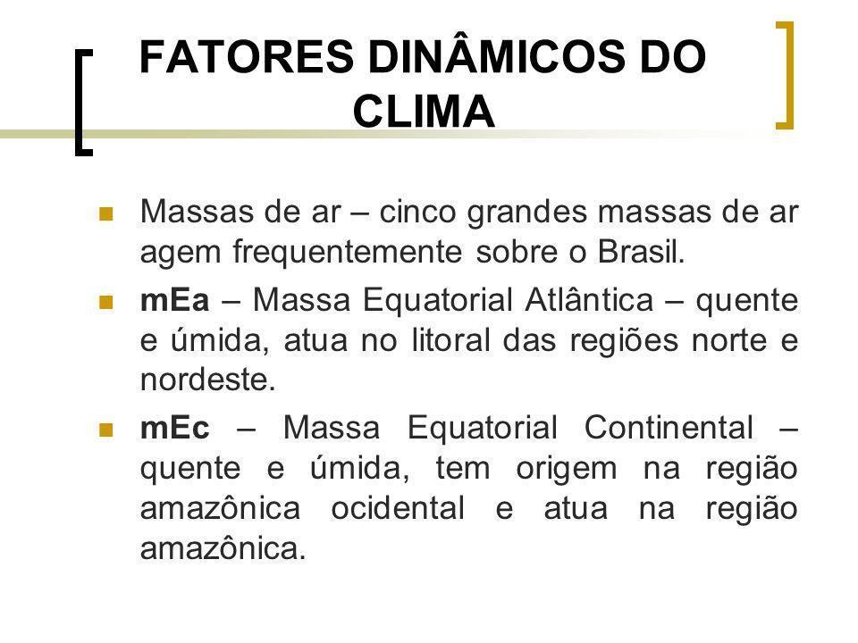 FATORES DINÂMICOS DO CLIMA