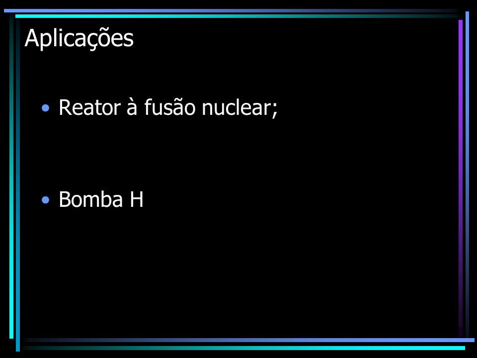 Aplicações Reator à fusão nuclear; Bomba H