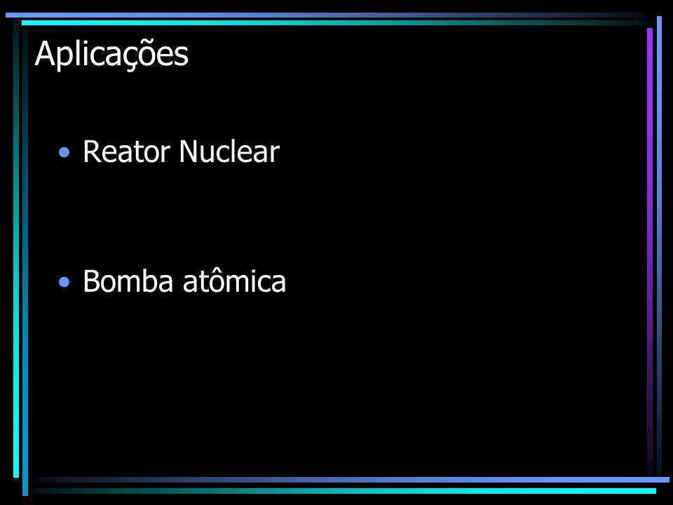 Aplicações Reator Nuclear Bomba atômica