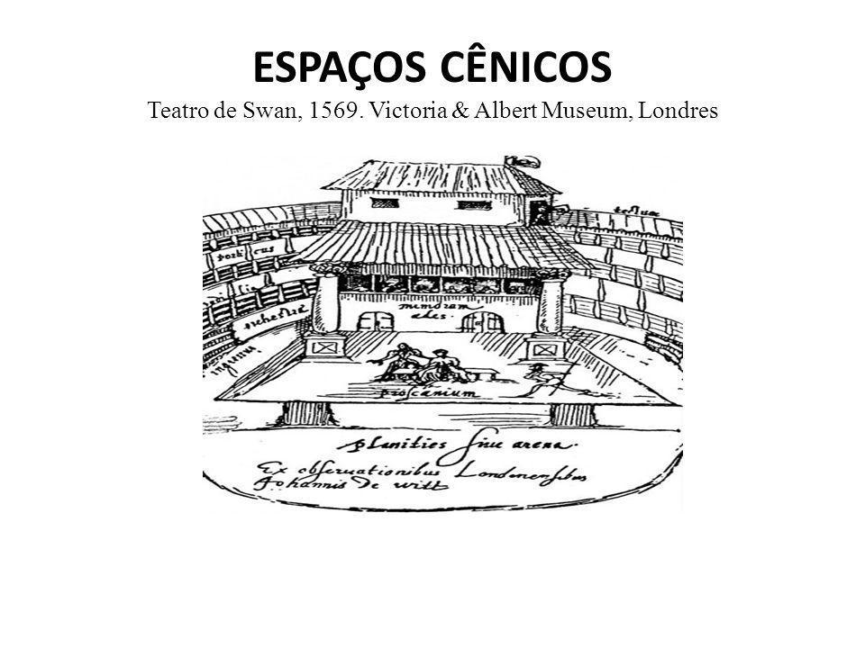 ESPAÇOS CÊNICOS Teatro de Swan, 1569. Victoria & Albert Museum, Londres