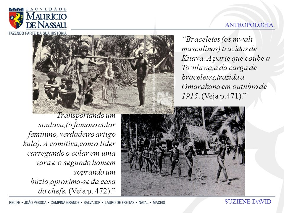 Braceletes (os mwali masculinos) trazidos de Kitava