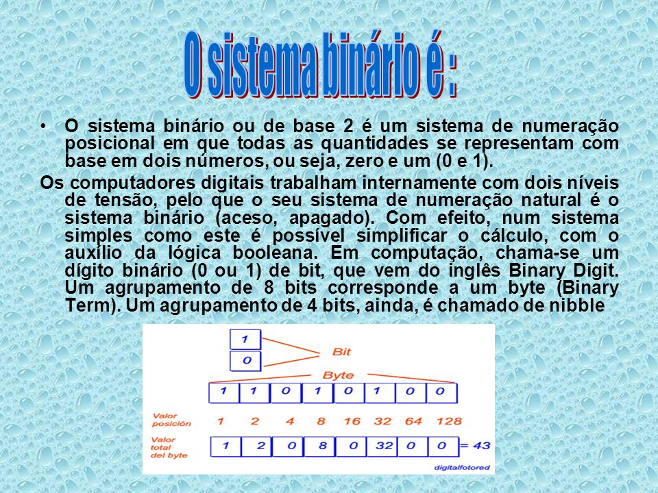 O sistema binário é :