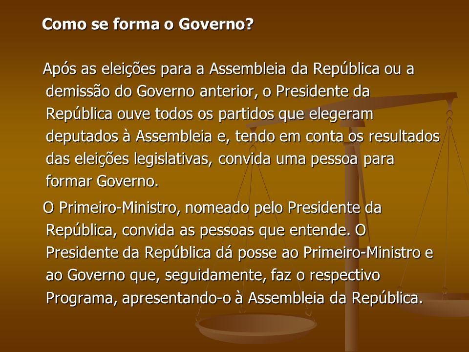 Como se forma o Governo