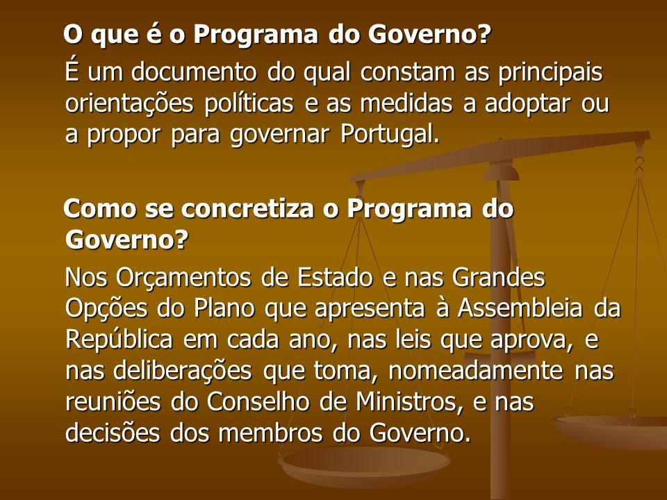 O que é o Programa do Governo