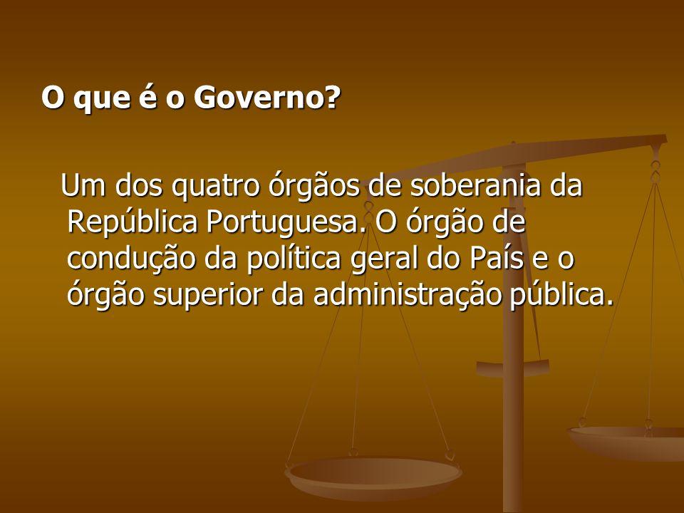 O que é o Governo