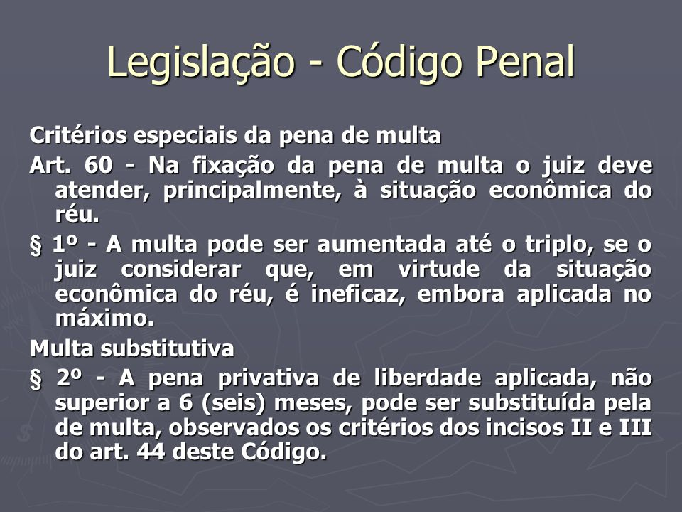 Legislação - Código Penal