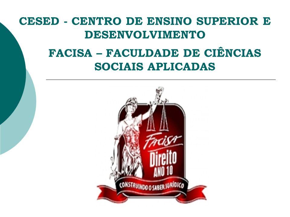 CESED - CENTRO DE ENSINO SUPERIOR E DESENVOLVIMENTO