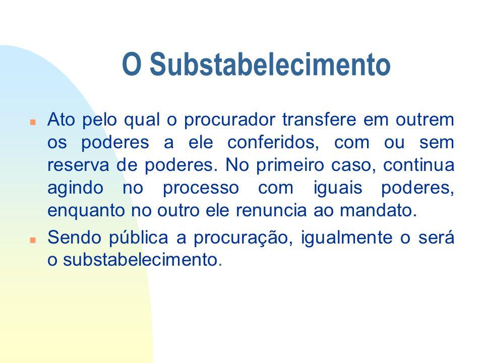 14/06/10 O Substabelecimento.