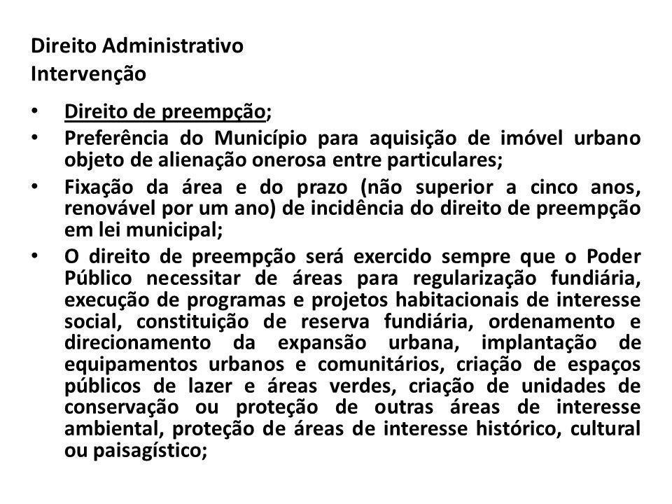 Direito Administrativo Intervenção